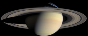 Saturn at a scale of 1,000 km/pixel